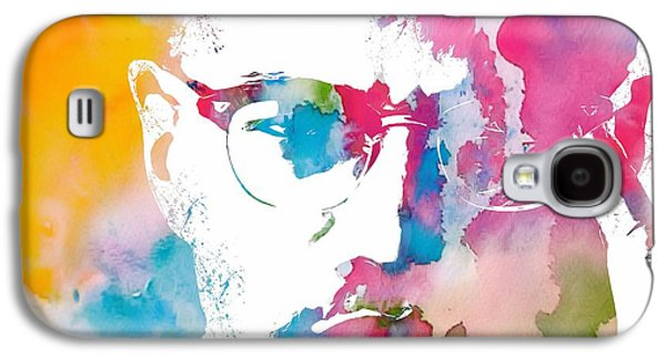Historical Figures Galaxy S4 Cases - Malcolm X Watercolor Galaxy S4 Case by Dan Sproul