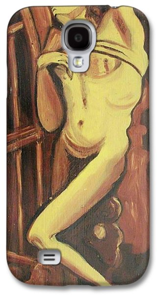 Leclair Galaxy S4 Cases - Male Statue Galaxy S4 Case by Suzanne  Marie Leclair