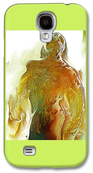 Abstract Digital Digital Art Galaxy S4 Cases - Male syrup By Quim Abella Galaxy S4 Case by Joaquin Abella