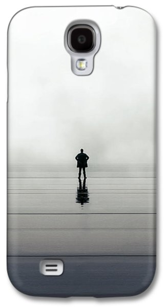 Young Man Photographs Galaxy S4 Cases - Man Alone Galaxy S4 Case by Joana Kruse