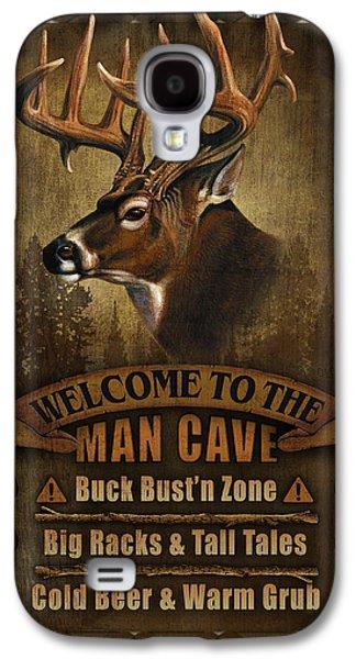 Man Cave Deer Galaxy S4 Case by JQ Licensing