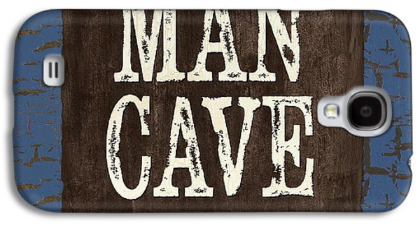 Person Galaxy S4 Cases - Man Cave Enter at your own Risk Galaxy S4 Case by Debbie DeWitt