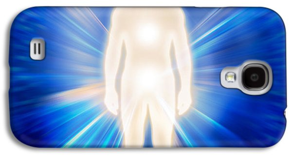 Luminous Body Galaxy S4 Cases - Man ethereal body energy emanations concept Galaxy S4 Case by Oleksiy Maksymenko