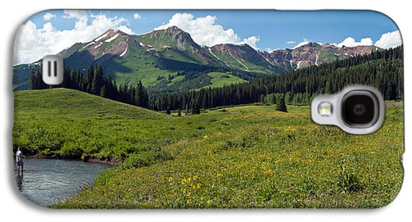 Recently Sold -  - Landscapes Photographs Galaxy S4 Cases - Man Fly-fishing In Slate River, Crested Galaxy S4 Case by Panoramic Images