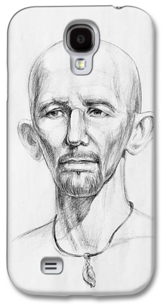 Head Drawings Galaxy S4 Cases - Man Head Study Galaxy S4 Case by Irina Sztukowski
