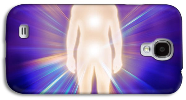 Luminous Body Galaxy S4 Cases - Man luminous ethereal body energy emanations concept Galaxy S4 Case by Oleksiy Maksymenko
