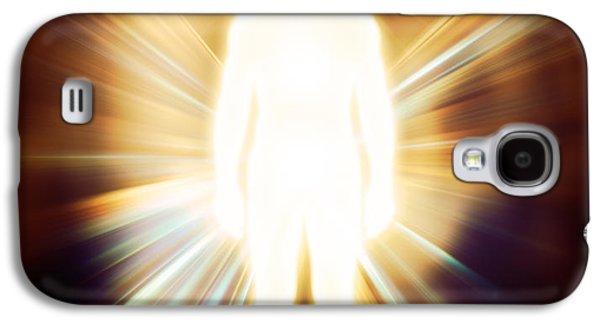Luminous Body Galaxy S4 Cases - Man luminous ethereal body Qi energy Galaxy S4 Case by Oleksiy Maksymenko
