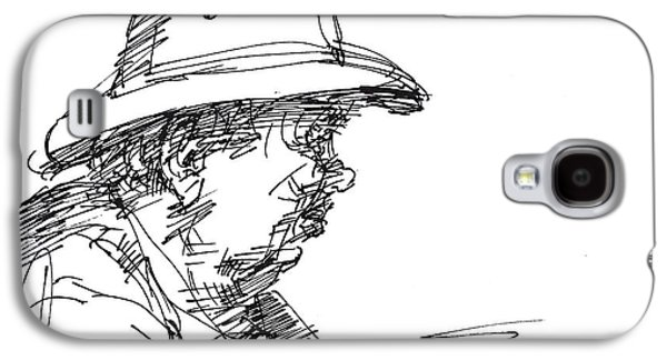 Men Drawings Galaxy S4 Cases - Man With A Hat Galaxy S4 Case by Ylli Haruni