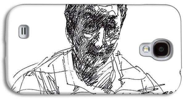 Men Drawings Galaxy S4 Cases - Man Galaxy S4 Case by Ylli Haruni