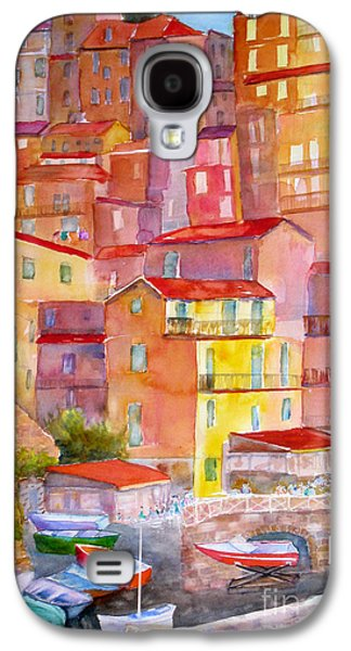 Ancient Paintings Galaxy S4 Cases - Manarola Italy Galaxy S4 Case by Mohamed Hirji