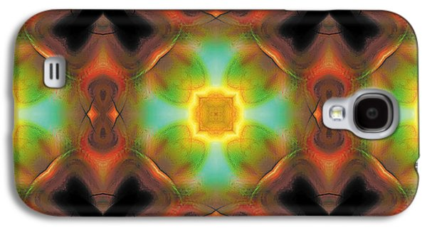Abstract Galaxy S4 Cases - Mandala 135 Galaxy S4 Case by Terry Reynoldson