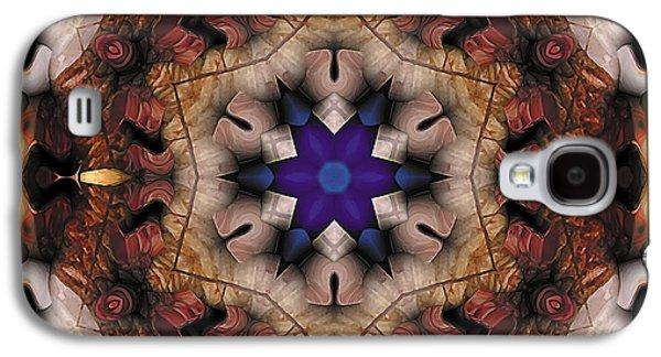 Geometry Galaxy S4 Cases - Mandala 16 Galaxy S4 Case by Terry Reynoldson