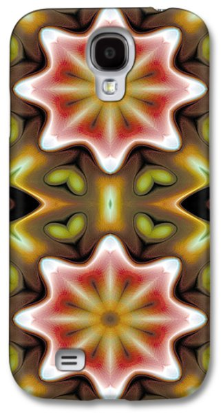 Geometry Galaxy S4 Cases - Mandala 93 for iPhone Double Galaxy S4 Case by Terry Reynoldson