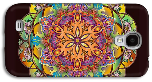 Abstract Digital Mixed Media Galaxy S4 Cases - Mandala Exotica Galaxy S4 Case by Bedros Awak