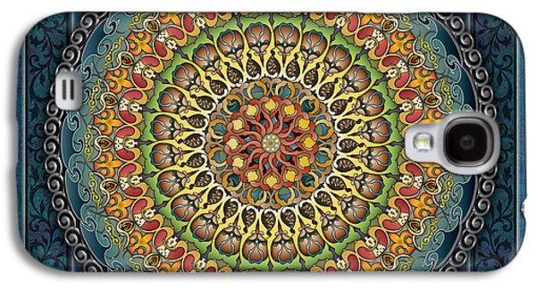 Healing Posters Galaxy S4 Cases - Mandala Fantasia Galaxy S4 Case by Bedros Awak