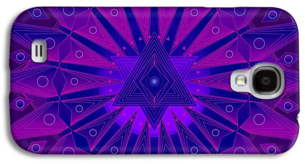 Greeting Cards For Cancer Galaxy S4 Cases - Mandala for Ca Symptoms Galaxy S4 Case by Sarah  Niebank