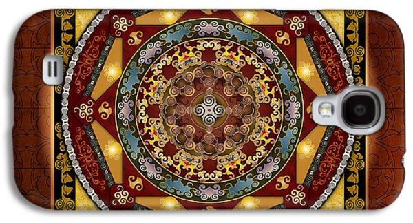 Healing Posters Galaxy S4 Cases - Mandala Oriental Bliss sp Galaxy S4 Case by Bedros Awak