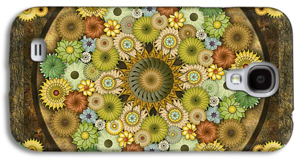 Healing Posters Galaxy S4 Cases - Mandala Stone Flowers sp Galaxy S4 Case by Bedros Awak
