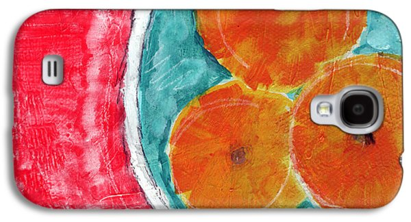 Still Life Mixed Media Galaxy S4 Cases - Mandarins Galaxy S4 Case by Linda Woods