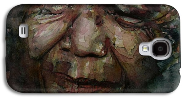 Freedom Paintings Galaxy S4 Cases - Mandela   Galaxy S4 Case by Paul Lovering