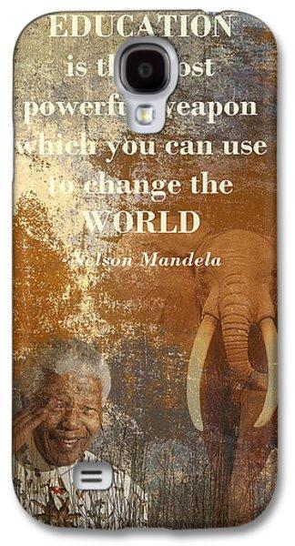 Segregation Mixed Media Galaxy S4 Cases - Mandela Galaxy S4 Case by Sharon Lisa Clarke
