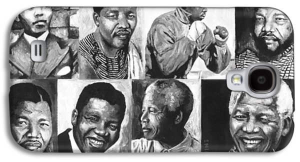 Democracy Paintings Galaxy S4 Cases - Mandela Youth 1 Galaxy S4 Case by Alan Levine