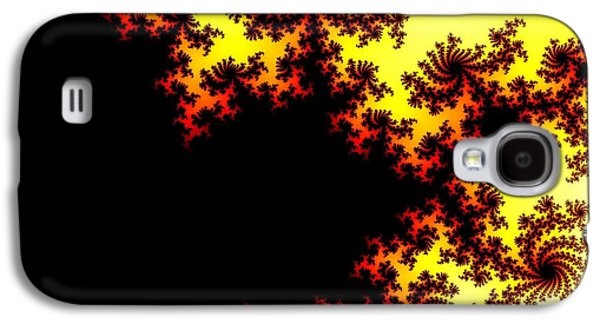 The View Mixed Media Galaxy S4 Cases - Mandelbrot Fractal Tree Galaxy S4 Case by Jamie Potter