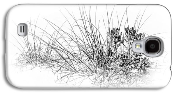 Waterscape Galaxy S4 Cases - Mangrove and Sea Oats-bw Galaxy S4 Case by Marvin Spates