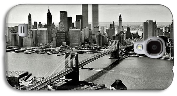 Wtc 11 Galaxy S4 Cases - Manhattan 1978 Galaxy S4 Case by Benjamin Yeager