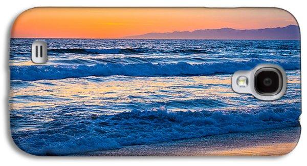 Californian Galaxy S4 Cases - Manhattan Beach Sunset Galaxy S4 Case by Inge Johnsson