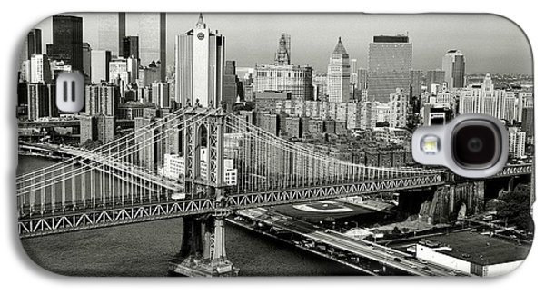Wtc 11 Galaxy S4 Cases - Manhattan Bridge Galaxy S4 Case by Benjamin Yeager