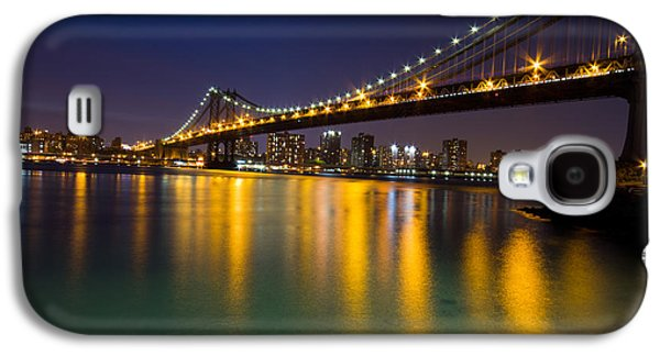 Nyc Glass Galaxy S4 Cases - Manhattan Bridge Galaxy S4 Case by Mircea Costina Photography