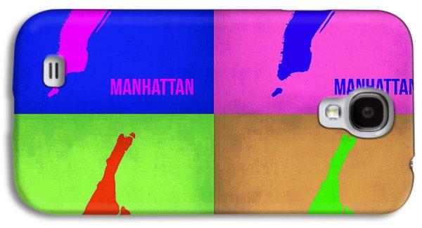 Manhattan Street Galaxy S4 Cases - Manhattan Pop Art Map 1 Galaxy S4 Case by Naxart Studio