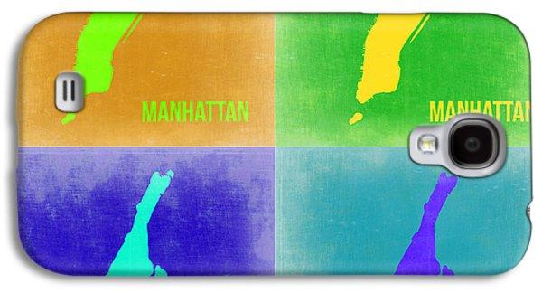 Manhattan Street Galaxy S4 Cases - Manhattan Pop Art Map 2 Galaxy S4 Case by Naxart Studio