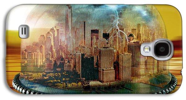 Photo Manipulation Galaxy S4 Cases - Manhattan Under the Dome Galaxy S4 Case by Marian Voicu