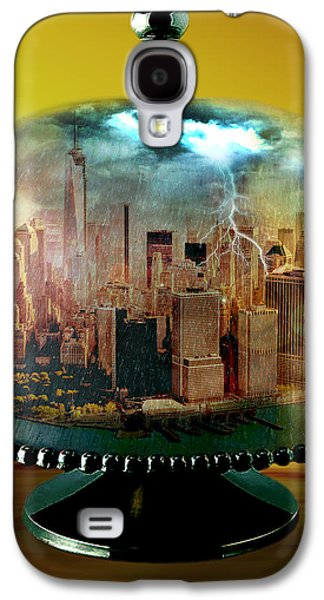 Photo Manipulation Mixed Media Galaxy S4 Cases - Manhattan Under the Dome Galaxy S4 Case by Marian Voicu