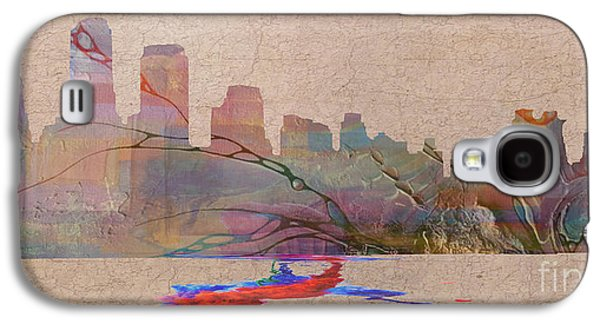 Manhatten Galaxy S4 Cases - Manhatten Skyline Unplugged Galaxy S4 Case by Jim  Hatch