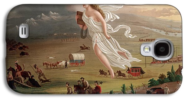 Conestoga Galaxy S4 Cases - Manifest Destiny 1873 Galaxy S4 Case by Photo Researchers