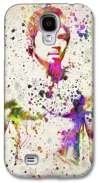 Fight Digital Art Galaxy S4 Cases - Manny Pacquiao Galaxy S4 Case by Aged Pixel