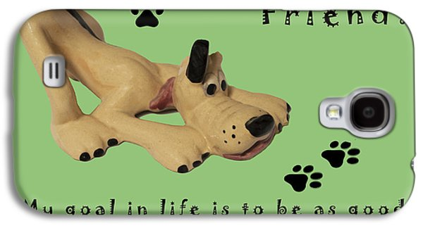 Puppy Digital Galaxy S4 Cases - Mans Best Friend Galaxy S4 Case by Barbara Snyder