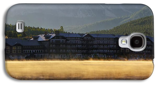 Swiss Photographs Galaxy S4 Cases - Many Glacier Hotel Sunrise Panorama Galaxy S4 Case by Mark Kiver