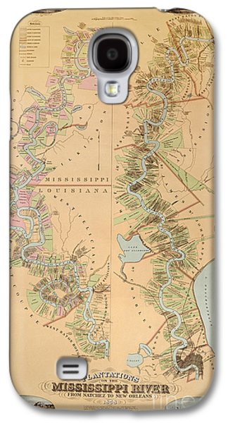 Map Depicting Plantations On The Mississippi River From Natchez To New Orleans Galaxy S4 Case by American School