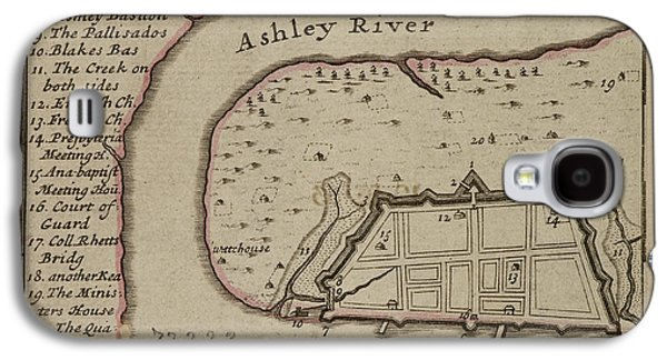 Map Of Charles-town Galaxy S4 Case by British Library