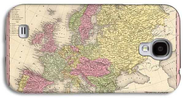 Antique Map Digital Galaxy S4 Cases - Map of Europe Galaxy S4 Case by Gary Grayson