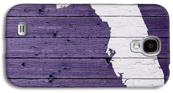 Map Of Florida State Outline White Distressed Paint On Reclaimed Wood Planks Galaxy S4 Case by Design Turnpike