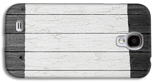 Taos Galaxy S4 Cases - Map Of New Mexico State Outline White Distressed Paint On Reclaimed Wood Planks Galaxy S4 Case by Design Turnpike