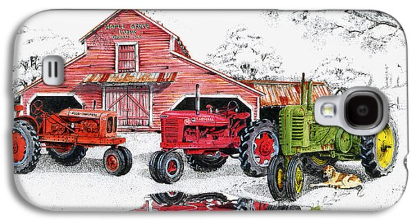 Tractor Prints Galaxy S4 Cases - Maple Grove Farms Galaxy S4 Case by Larry Johnson