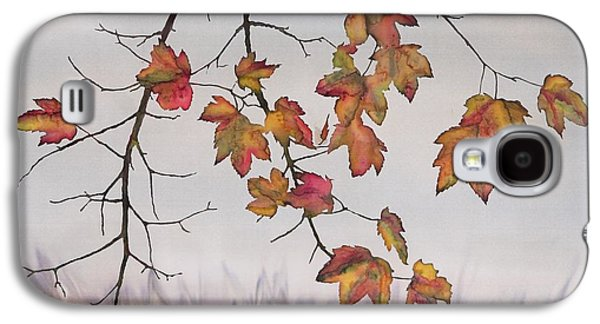 Autumn Landscape Tapestries - Textiles Galaxy S4 Cases - Maple in gray sky Galaxy S4 Case by Carolyn Doe