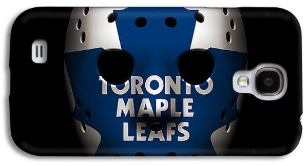 Maple Leafs Goalie Mask Galaxy S4 Case by Joe Hamilton