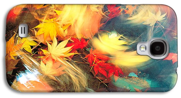 Enhance Galaxy S4 Cases - Maple Leaves, Blurred Motion Galaxy S4 Case by Panoramic Images